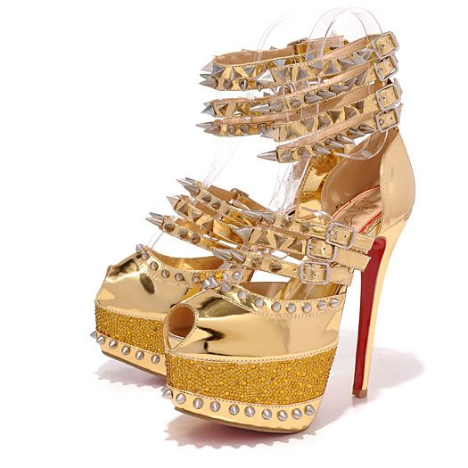 d6210c3f96b Christian Louboutin Isolde 160mm Copper Spiked 20th Anniversary ...