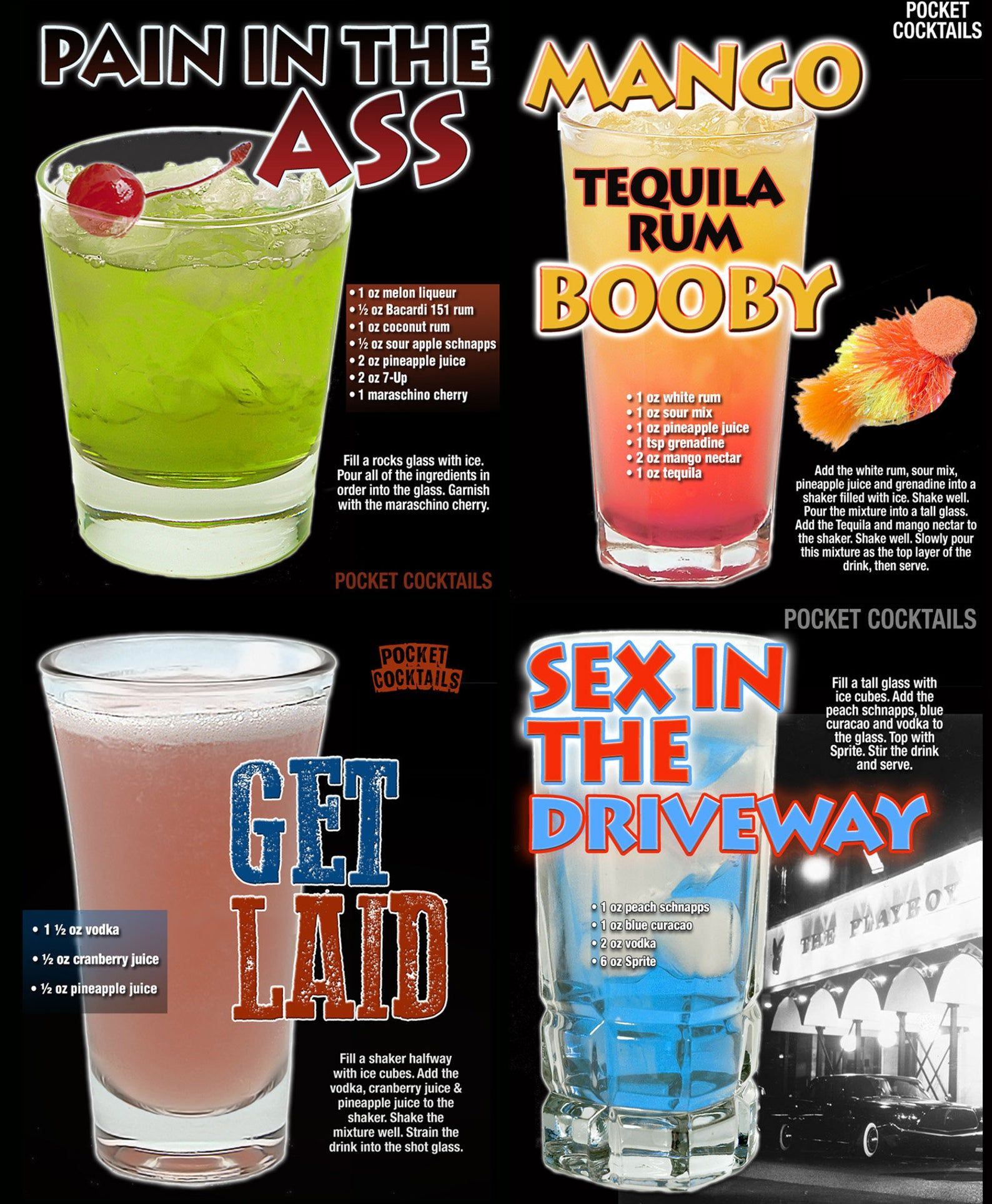 XXX Cocktail Poster + X Rated Drinks Guide