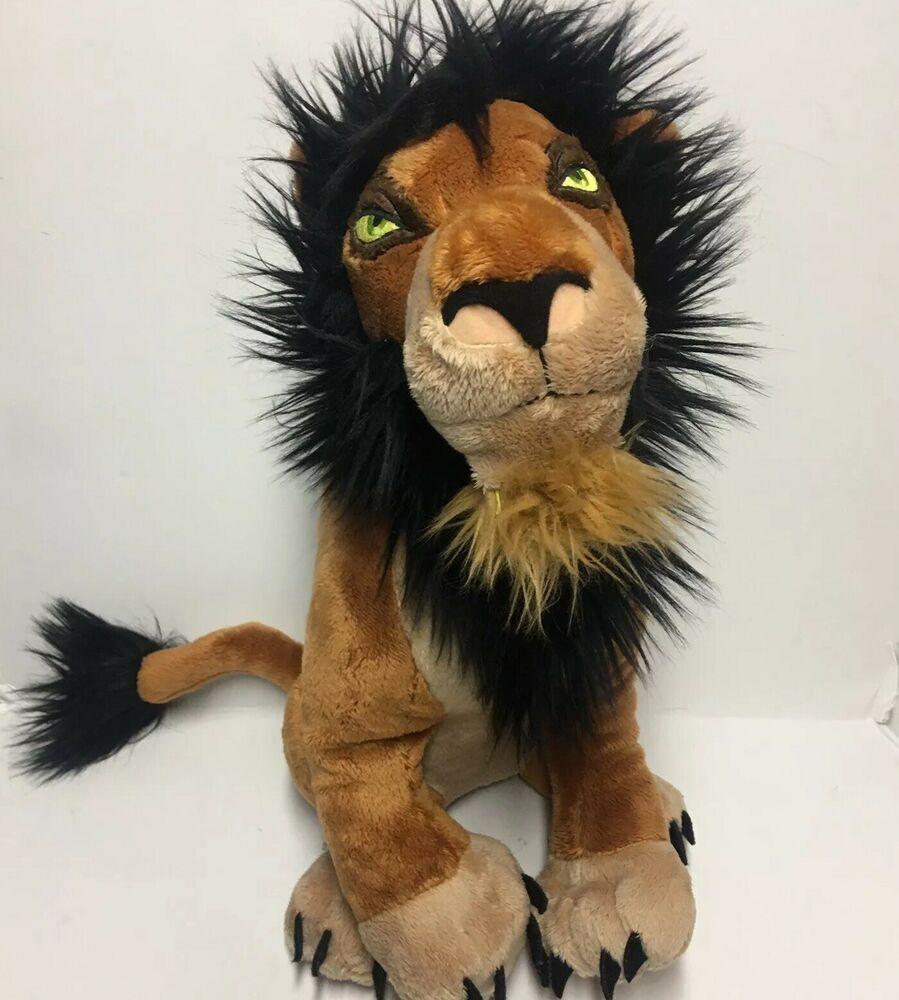 "Authentic Disney Store Lion King Villain Scar Plush 15/"" Soft Stuffed Animal NEW"