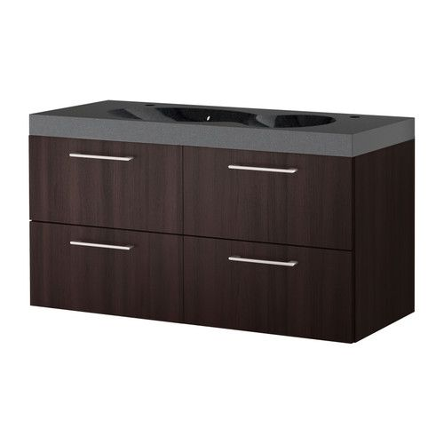 Ikea Godmorgon Bredviken Modern Sink With Two Faucet Top But With