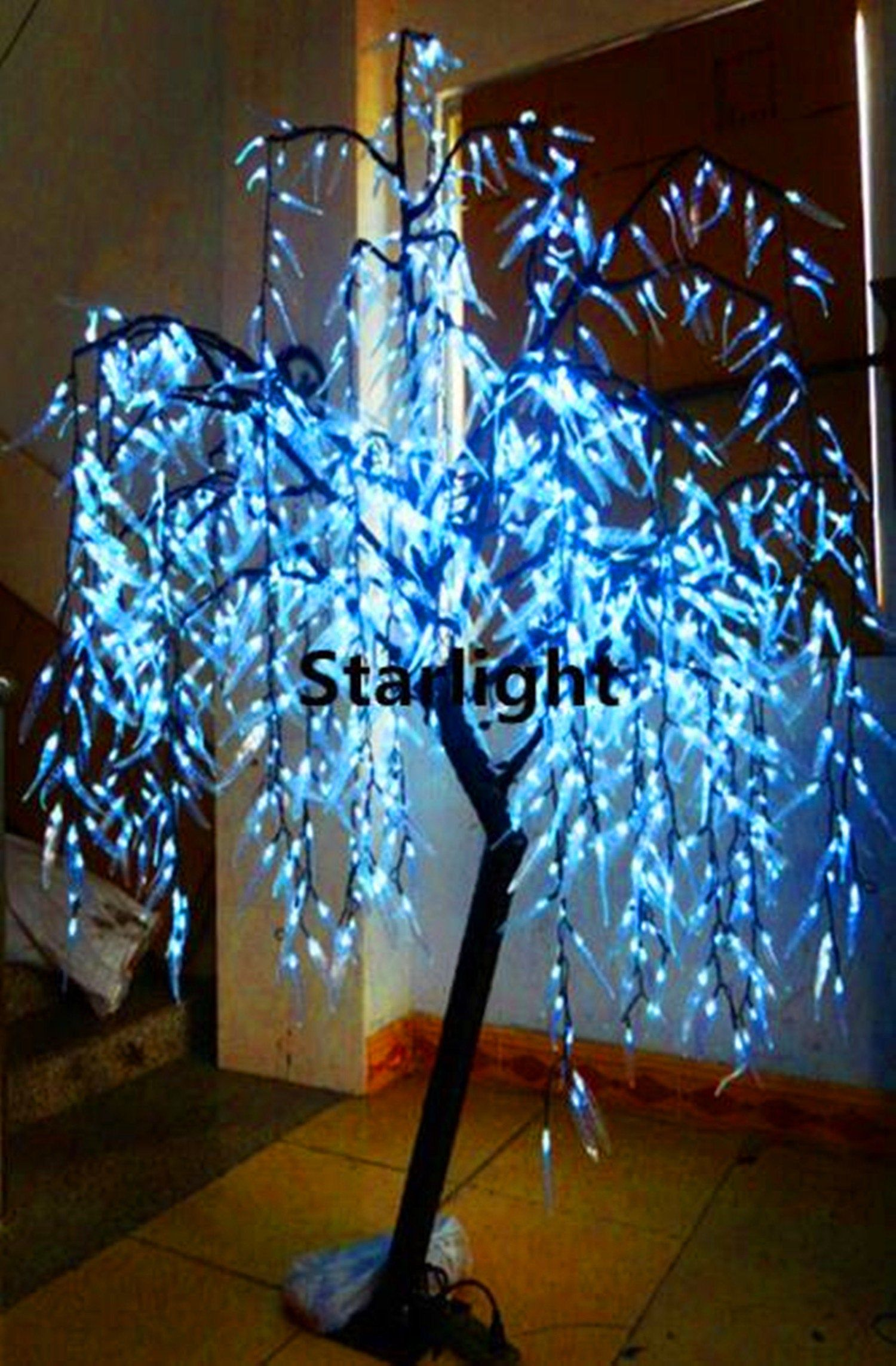 945pcs LEDs Artificial Outdoor LED Willow Weeping Tree