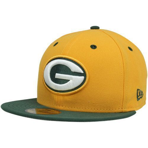 Green Bay Packers Fitted Hat 59Fifty New Era NFL Two Tone - 7 3 8 ... b49279085