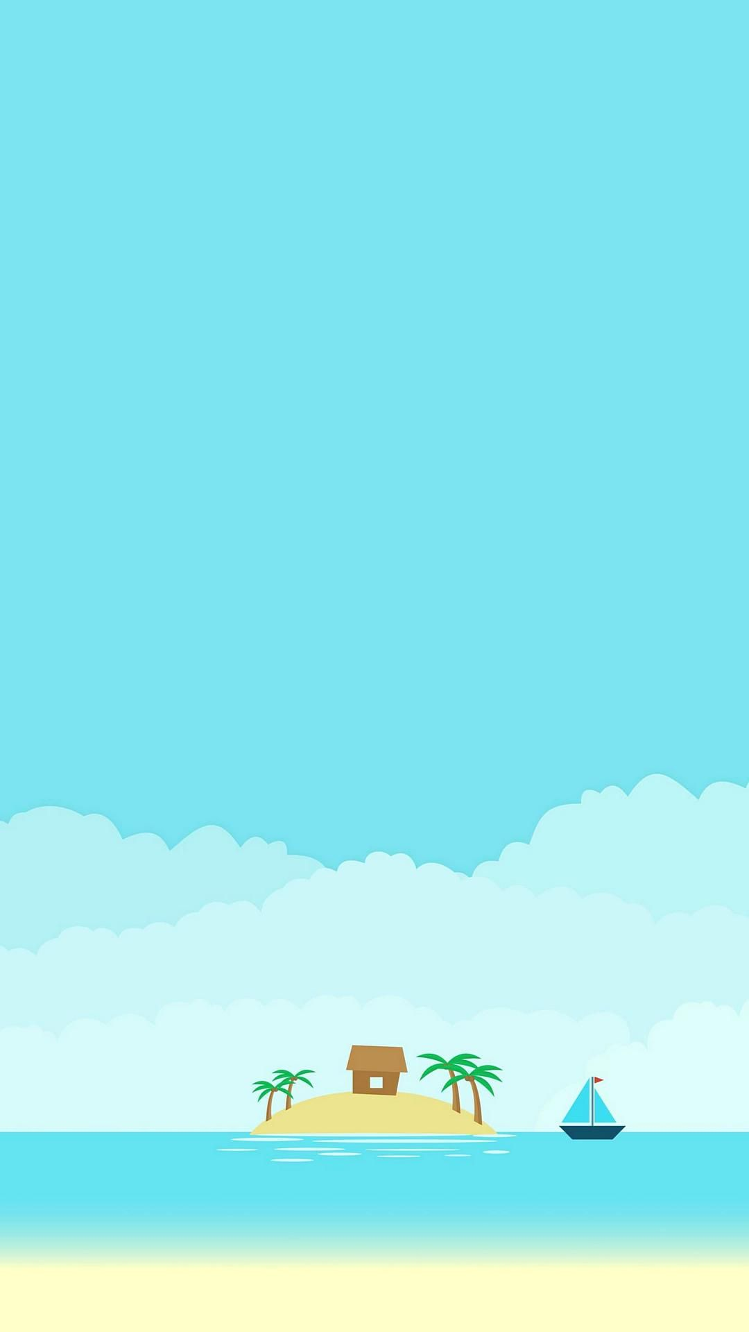 Island Simple Minimal Android Ultra HD 4K Wallpapers Free ⋆ Traxzee