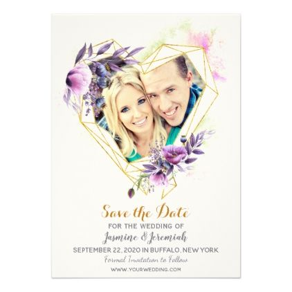 Violet lavender poppy flower wedding save the date card wedding violet lavender poppy flower wedding save the date card cyo customize design idea do solutioingenieria Image collections