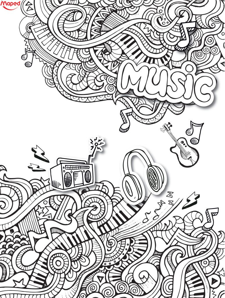 Love This Music Doodle Music Doodle Music Coloring Love Coloring Pages [ 1024 x 774 Pixel ]