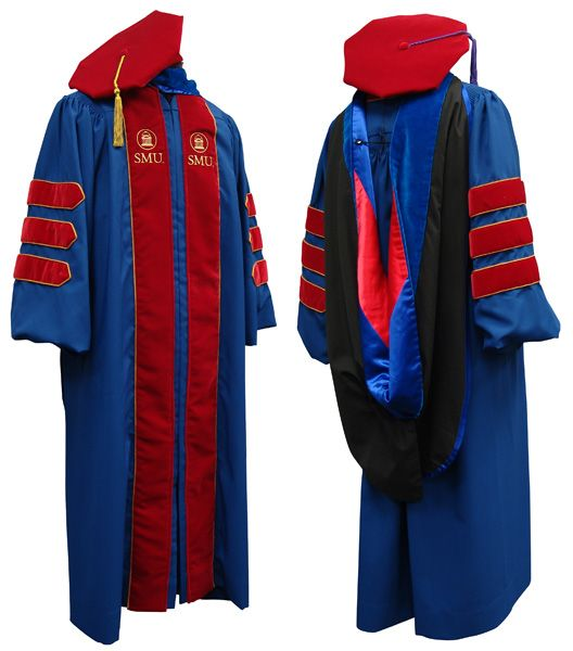 The Smu Doctoral Gown Academic Robes Doctoral Gown Smu