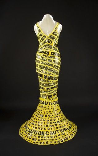 Crime Scene Back -  great site recycled fashion design