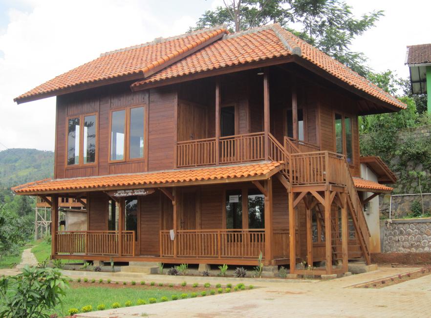 Desain Villa Kayu Lantai 2 Rumah Kayu Desain Rumah Rumah