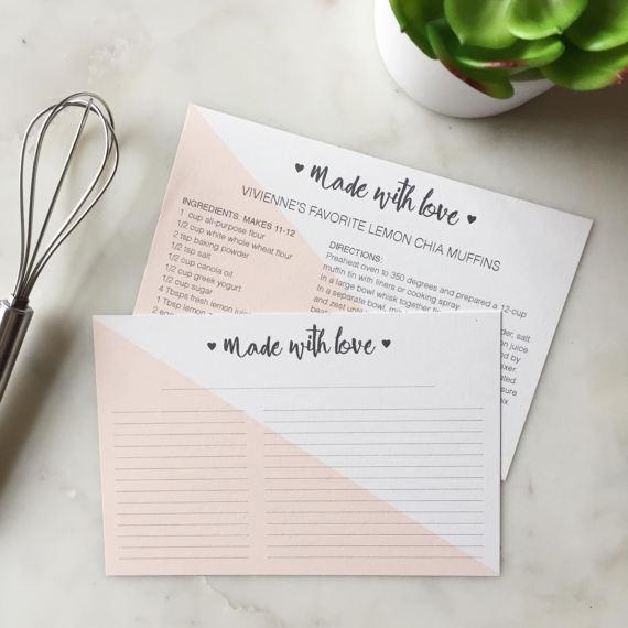 Printable Editable Recipe Cards Instant Download Modern Etsy Recipe Cards Template Recipe Cards Recipe Cards Printable Free
