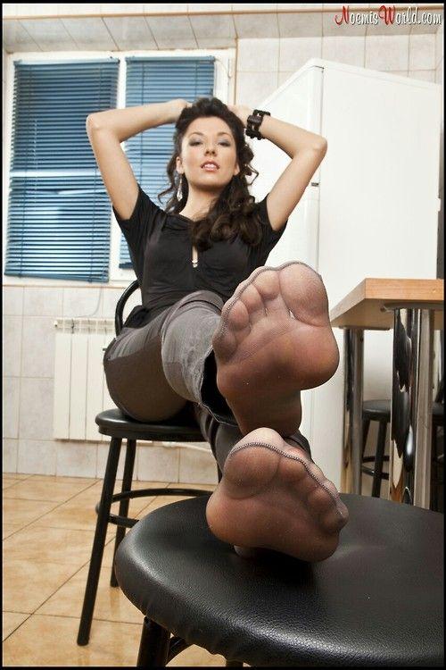 De sexy negro nylon pies madura
