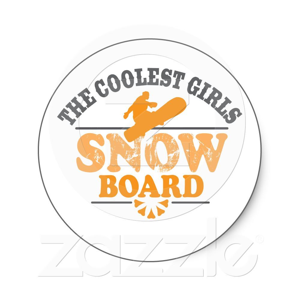 72edd53cfb5 Coolest Girls Snowboard Stickers from Zazzle.com