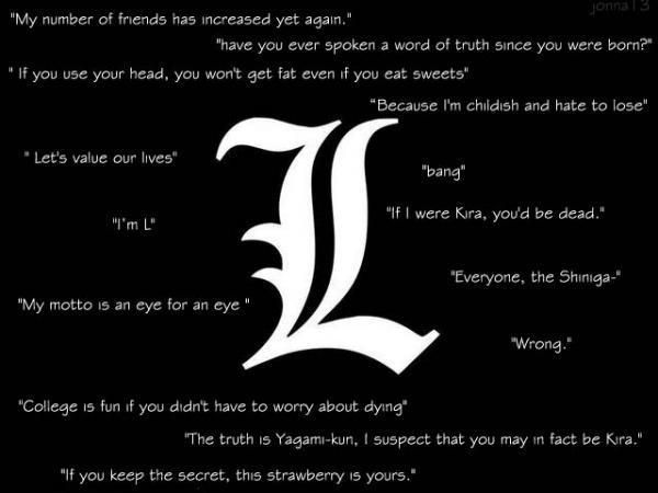 l lawliet quotes - Google Search | L | Pinterest | Search and Quotes