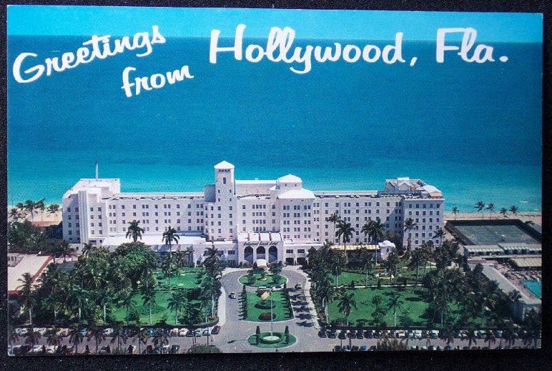 Details About 1950s Aerial Hollywood Beach Hotel Fl Broward