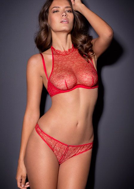 a074b6a38a Annoushka Agent Provocateur LingerieㄝLight-as-air and barely there.  Features a tantalising halterneck bra and slip in Leavers lace