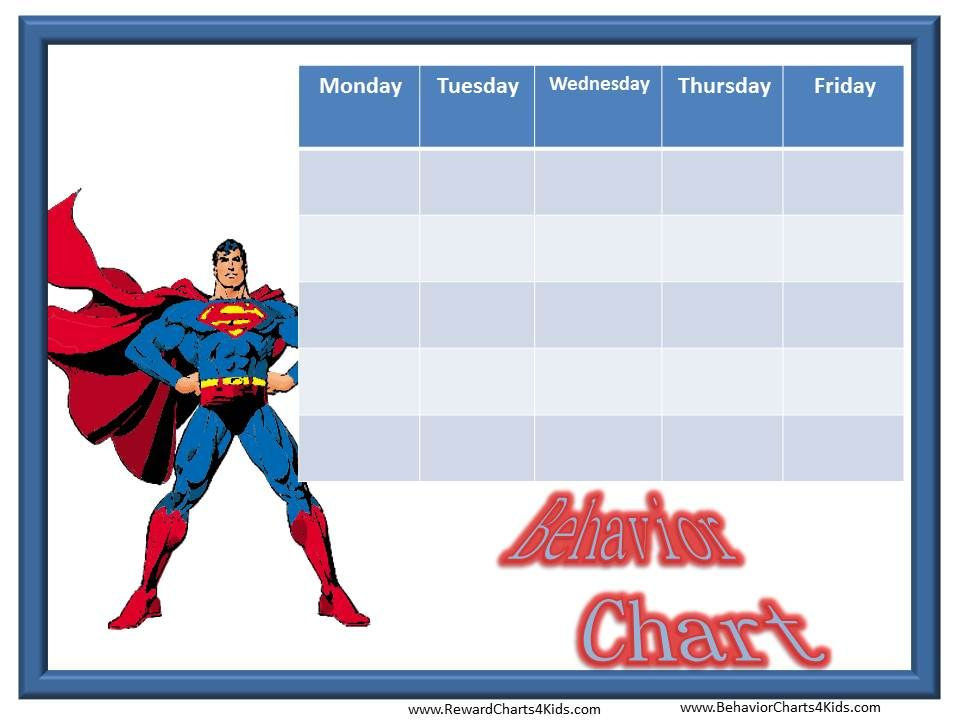 Behavior  Behavior Charts With Your Favorite Characters