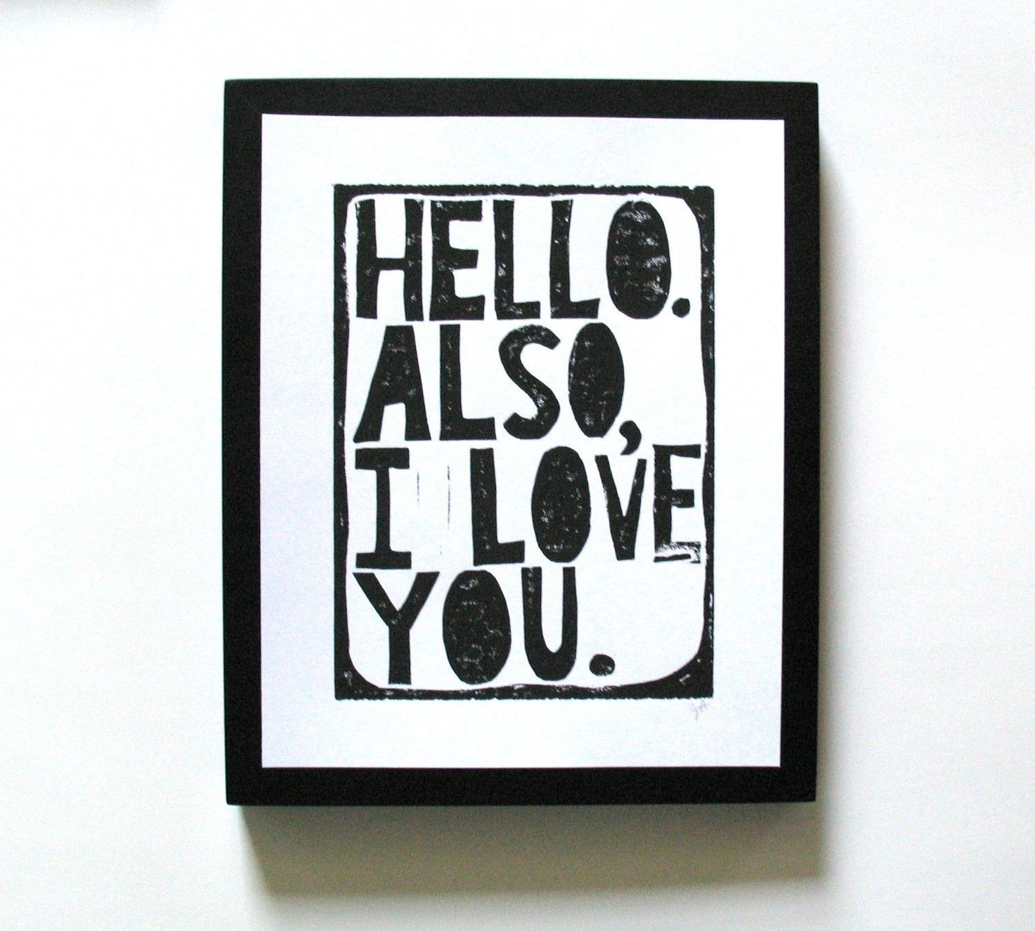 you are going to have a great day GREY typography letterpress linocut print POSTER