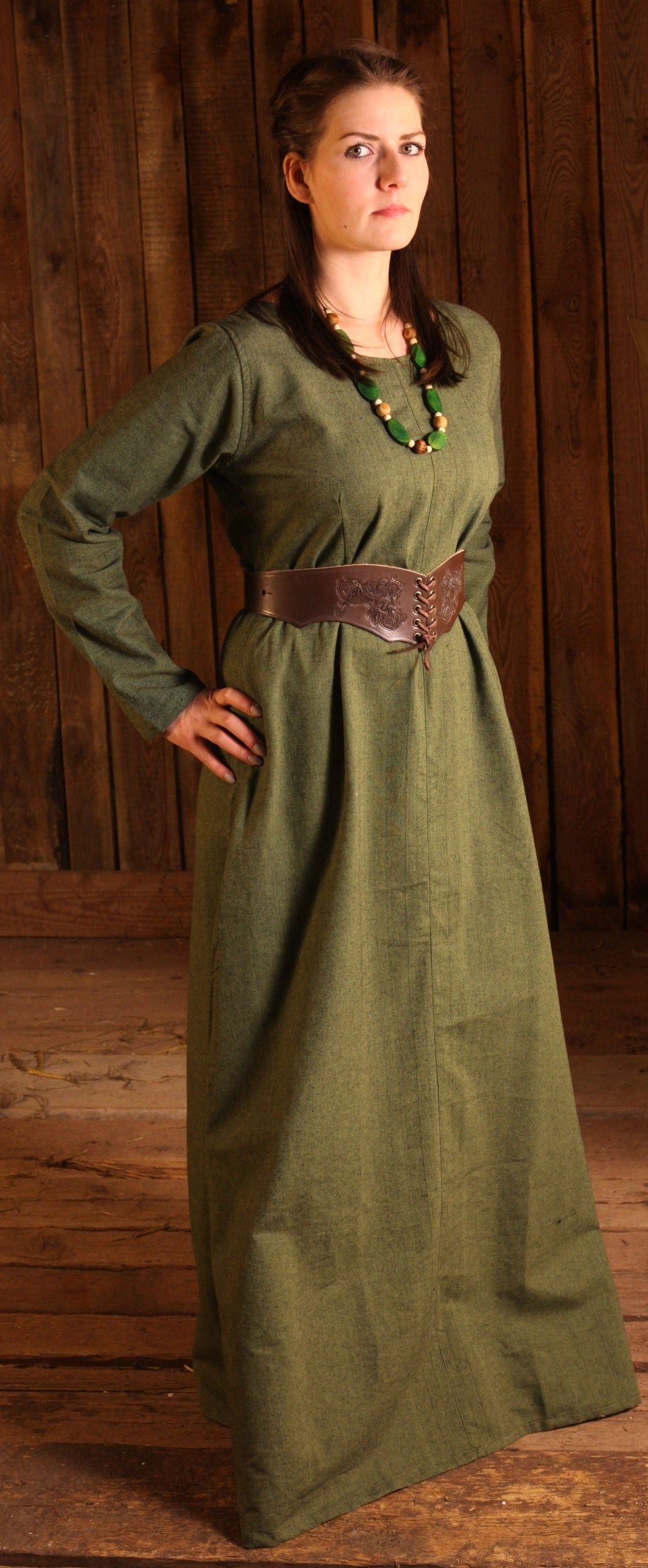 Shift Dress Freya Pastel Green | LARP | Dresses, Medieval