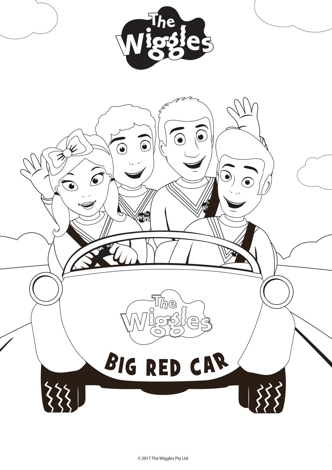 The Wiggles Activity Color The Wiggles