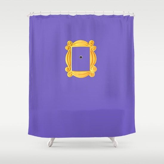 purple and gold shower curtains. Friends Shower Curtain Home Decor Purple Gold Bathroom By Hhprint And Curtains