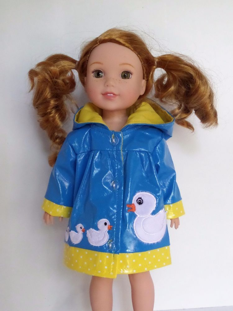 Butterfly Raincoat for Wellie Wisher Dolls
