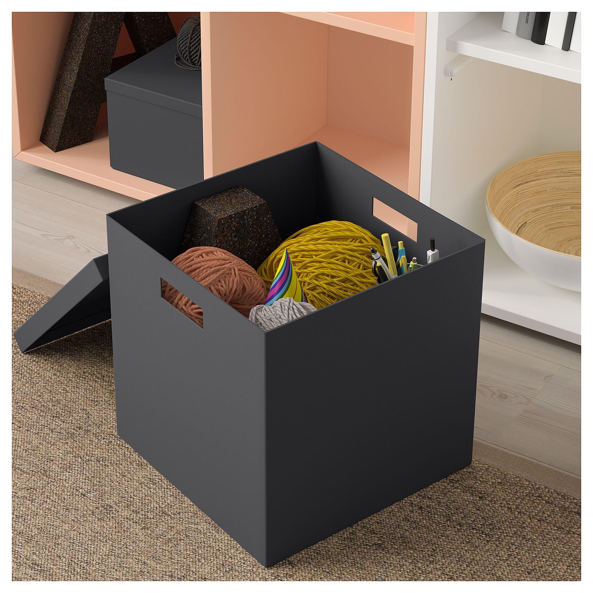 IKEA - TJENA Storage Box With Lid Black