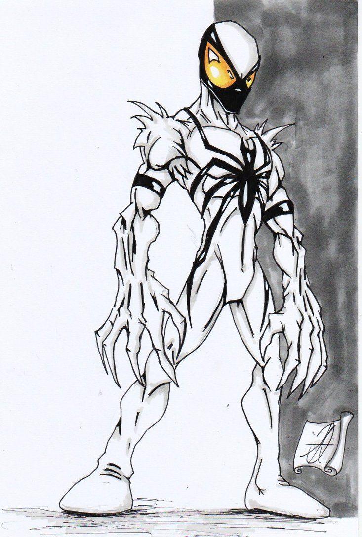 Anti Venom Spiderman By Darkartistdomain On Deviantart Anti Venom Spiderman Symbiotes Marvel Anti Venom Marvel