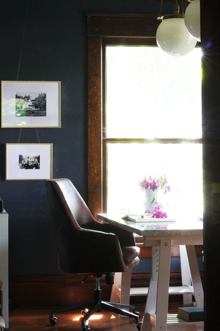 Farmhouse office chair trestle desk pairings the