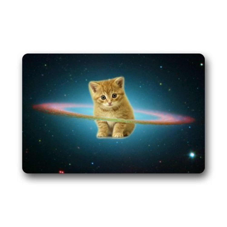 Floor mats decorative - Galaxy Space Cat Decorative Floor Mats Non Slip Rubber Doormats Door Mat 23 6 X