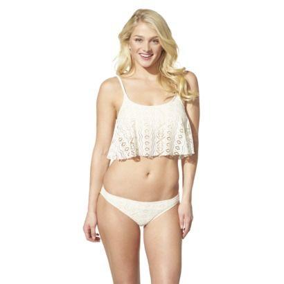 5957a216b4 Xhilaration® Junior's Crochet 2-Piece Swimsuit -Ivory #TargetStyle  #TargetsGoneGlam