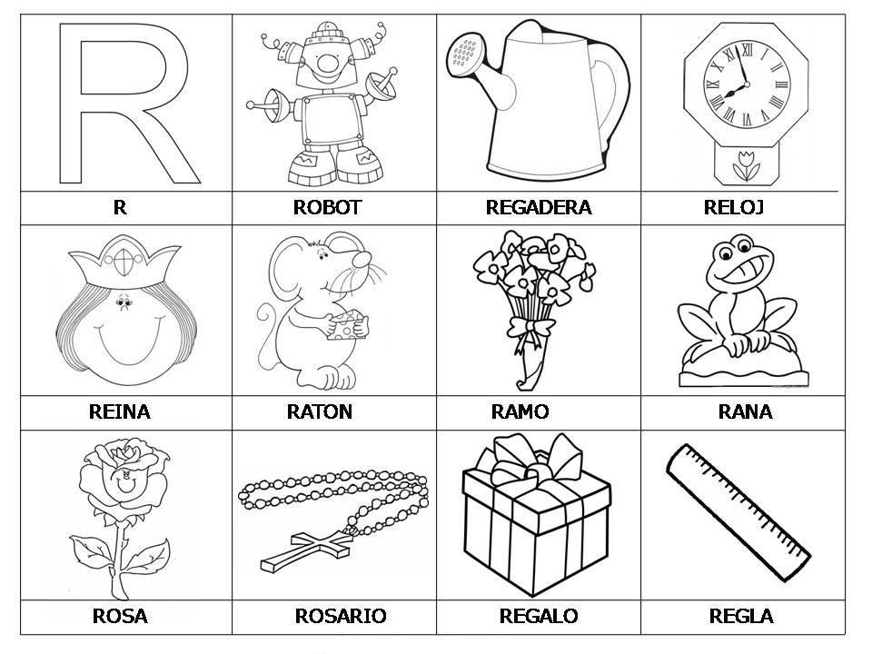 palabras con r para colorear - Buscar con Google | Fonema rr ...