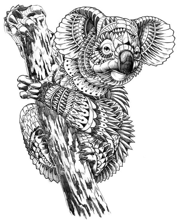 hard animal coloring pages forcoloringpagescom - Hard Animal Coloring Pages