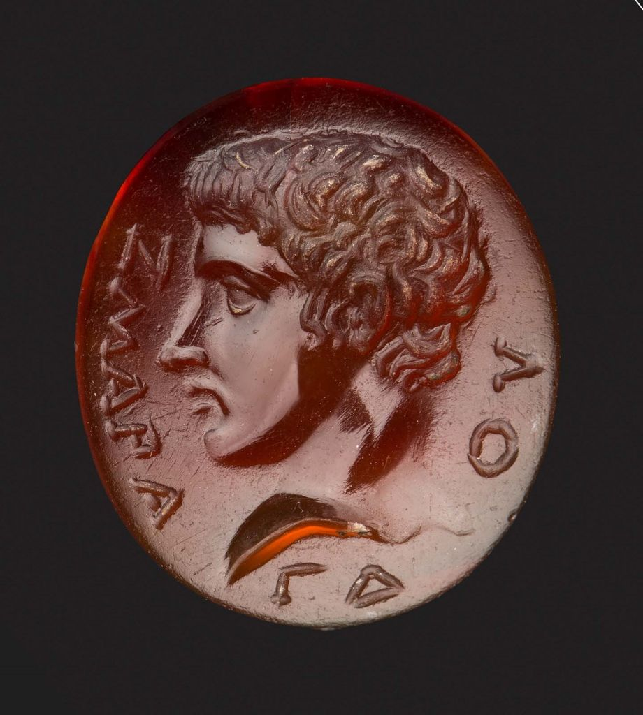 Oval gem with bust of a youth | Museum of Fine Arts, Boston