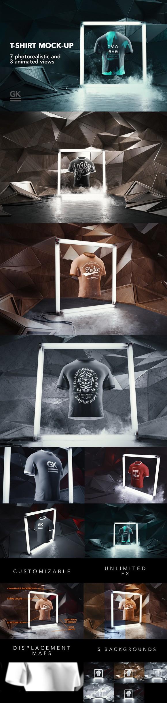 Download Man T Shirt Mock Up Animated Shots Up Animation Tshirt Mockup Mockup