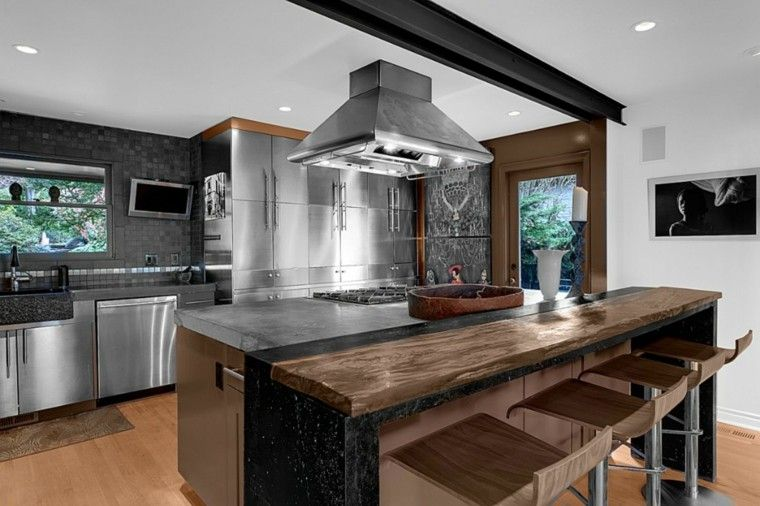 Barras de cocina de madera maciza barras pinterest for Barras de cocina modernas