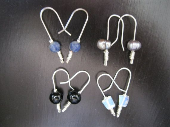 Sterling Silver Semi Precious Drops by JewelryByDando on Etsy