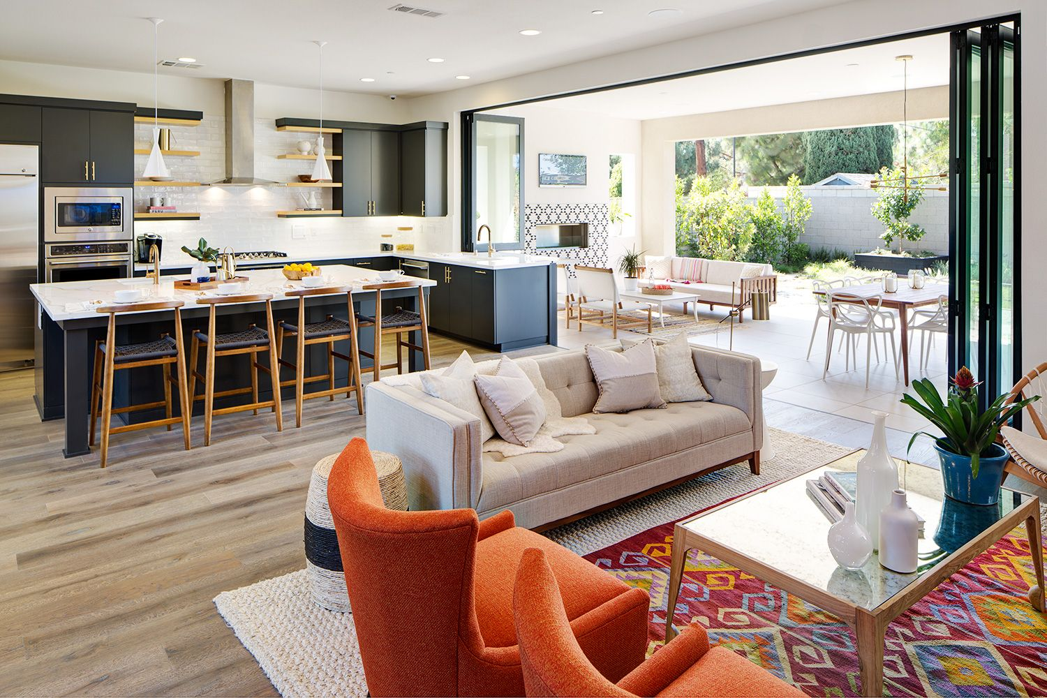 Mid Century Modern Living Room, Enlivening Your Home with ... on Indoor Outdoor Living Spaces id=29263