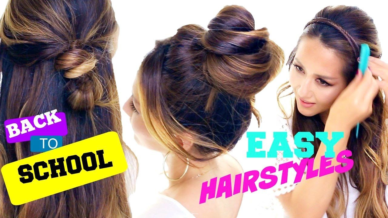 4 Incredibly CUTE & EASY Back-to-School Hairstyles   Quick Hair ...