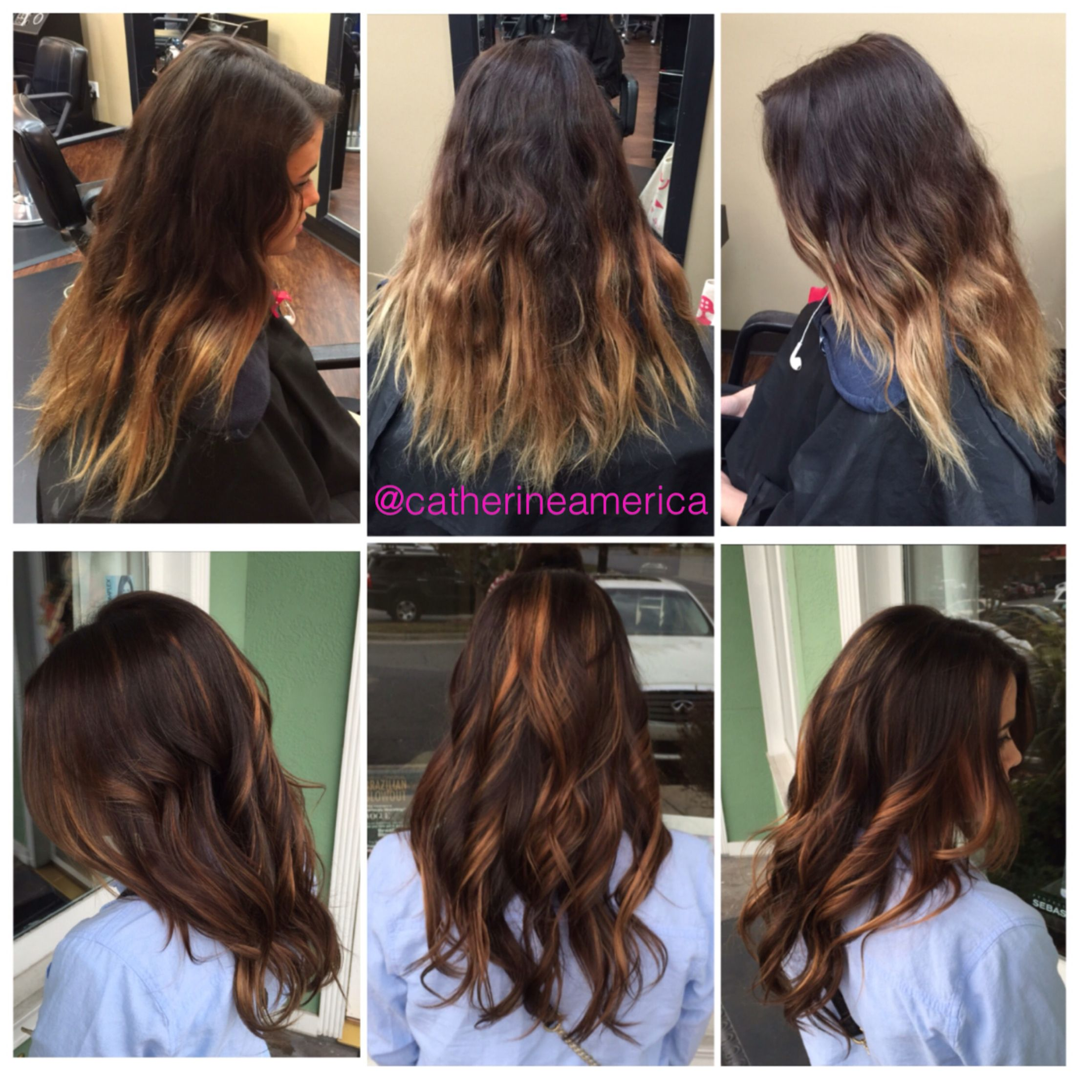 color correction from at home ombré to rich dark chocolate