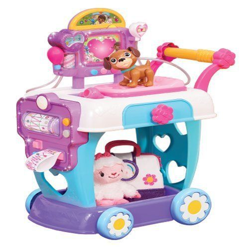 Doc Mcstuffins Hospital Cart Is Brand New And Is Ready To Play Kids Pretend To Be Doctors And Make Their Patie Doc Mcstuffins Toys Doc Mcstuffins Toddler Toys