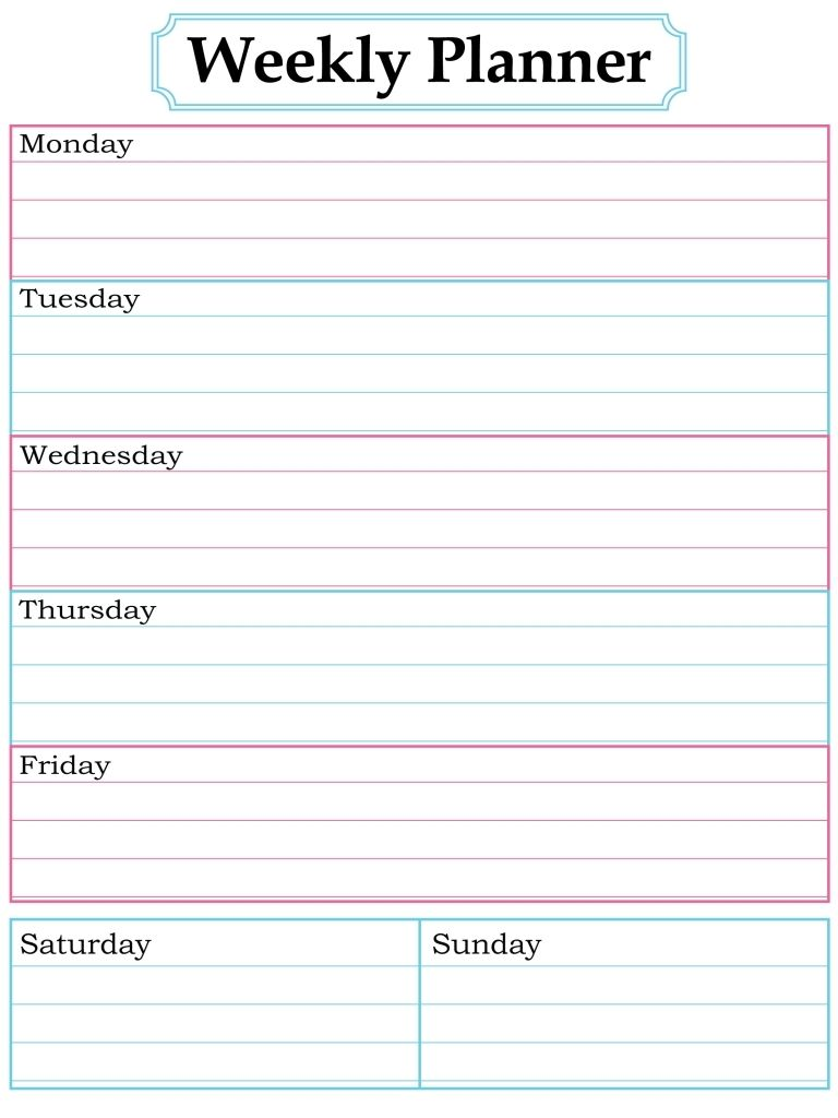 Pin by Candace Pratt on Planning and Organization - Printables ...