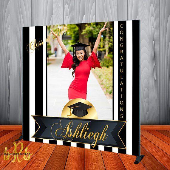Graduation Photo Backdrop Personalized
