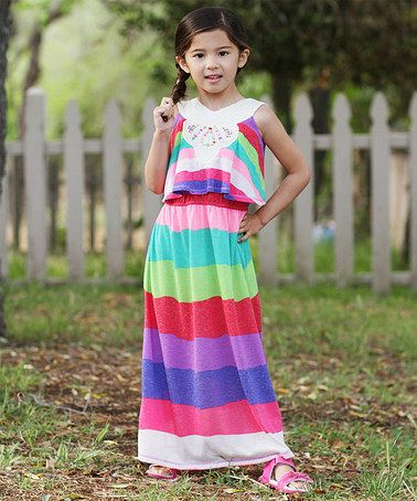 6df6bc230fc0 Another great find on  zulily! Purple Rainbow Beaded Layered Maxi ...