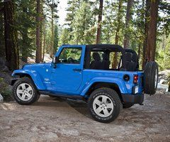 I used to have a yellow Wrangler. Now I think it's time for a blue one. ;-) I LOVED my Jeep!