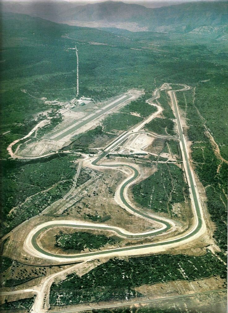 The old Paul Ricard circuit at Le Castellet. Before the