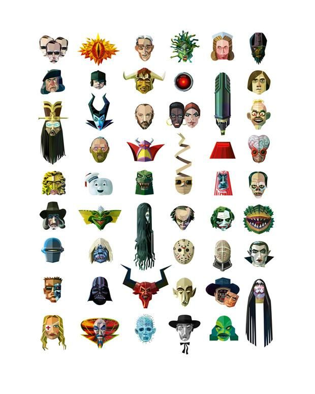 50 Baddies Design Print by Robert Ball