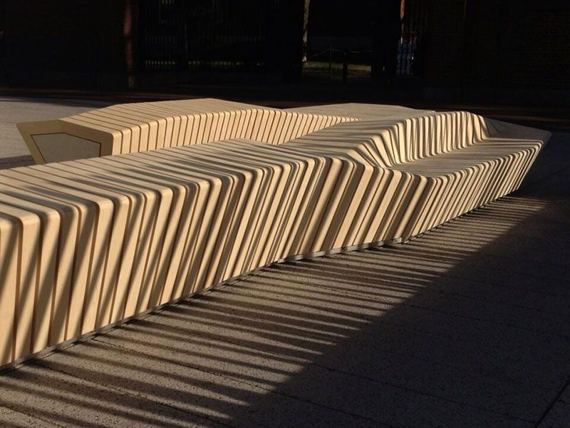 Great Sliced Benches At Harvard Great For Loafing Awesome Design