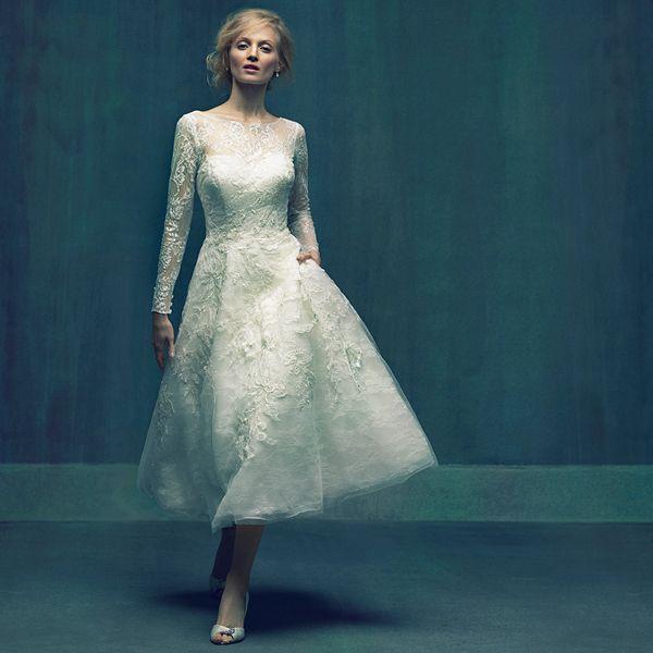 A Sweet Tea Length Hemline Is A Fun Surprise For This Elegant Bridal