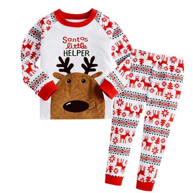 USA Christmas Toddler Kid Baby Boy Clothes Xmas Santa Tops T-Shirt Pants Outfits