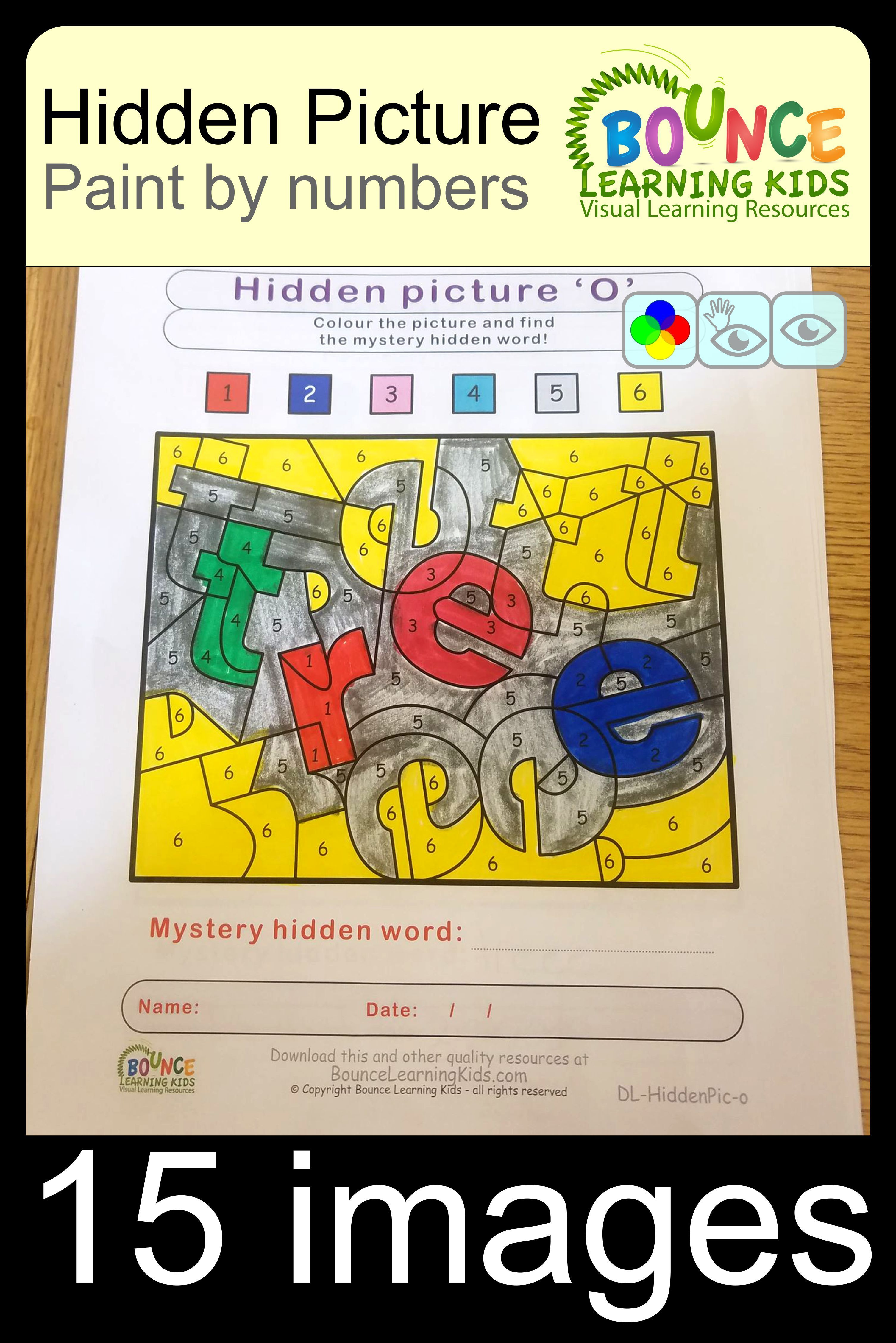 Hidden Picture 15 Distance Learning Hand Eye Coordination