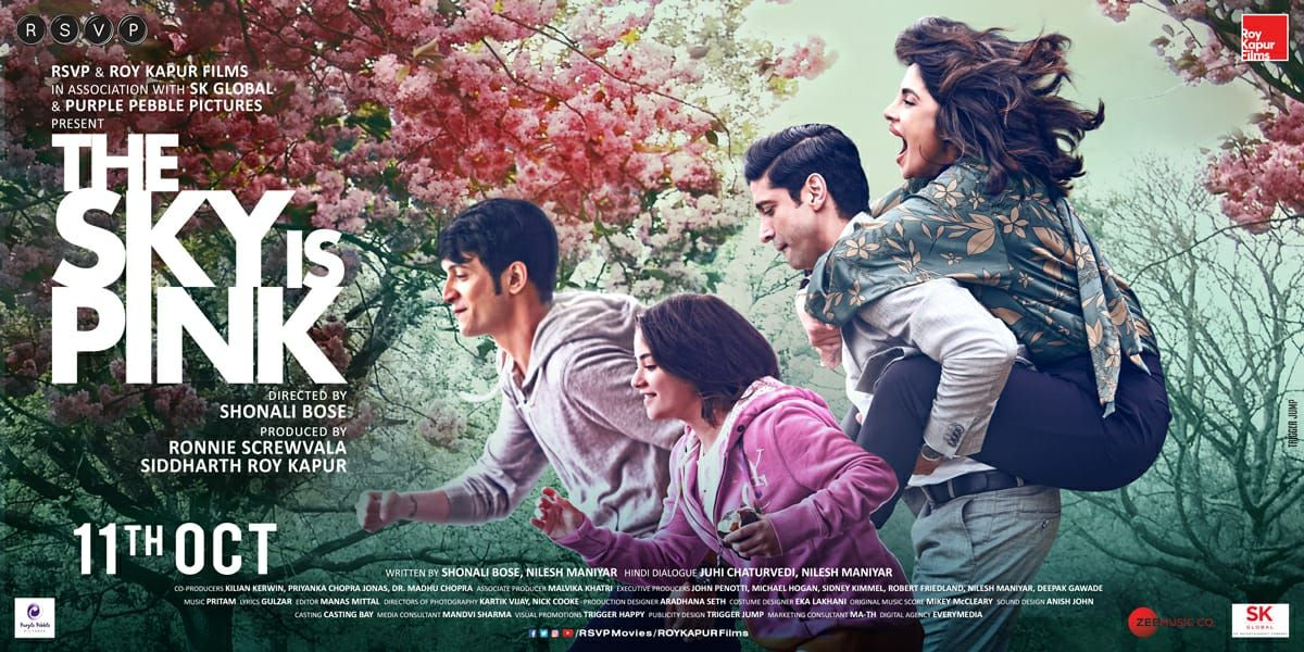 First Look Poster Of The Sky Is Pink Pink Movies Pink Full Movie Hindi Movies